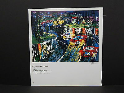 Leroy Neiman Double-Sided Book Plate S1#09 24 Hours Of LeMans Racing