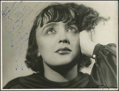 Edith PIAF (Song): Early Signed Photo to Reda CLAIRE