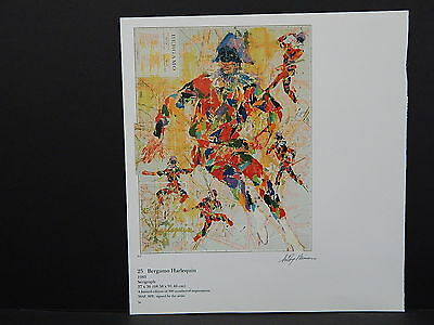 Leroy Neiman Double-Sided Book Plate S2#01 Bergamo Harlequin Map