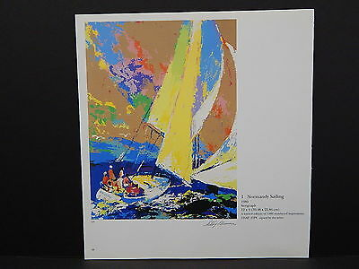 Leroy Neiman Double-Sided Book Plate S2#04 Normandy Sailing