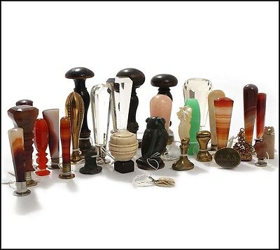 A Collection of 19th and 20th century Wax Seals