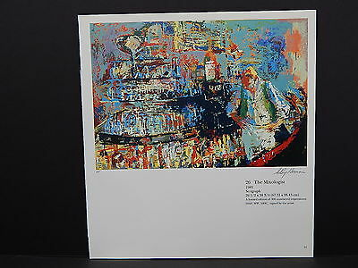 Leroy Neiman Double-Sided Book Plate S2#18 The Mixologist Bartender