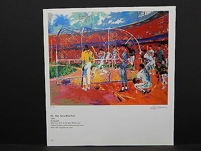 Leroy Neiman Double-Sided Book Plate S2#23 Bay Area Baseball