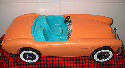 "1962 VTG.BARBIE *AUSTIN HEALEY*ORIGINAL SPORTS CAR~18""~1st BARBIE CAR~VERY CLEAN"