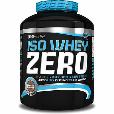 Iso Whey ZERO Pure Isolate Proteine SANS LACTOSE 2270g Zero Carb Biotech  BCAA