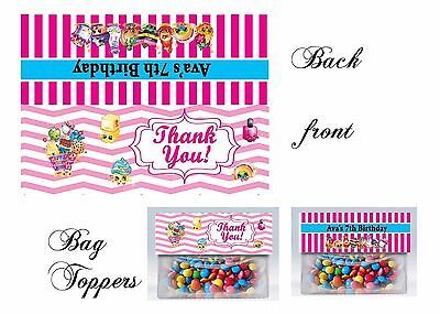 Shopkins Bag Toppers, Shopkins, Birthday, Shopkins gift tags