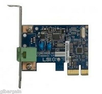 LSI C40 Concorde 56K V.92 Low Profile PCI Express x1 Data/Fax modem Card