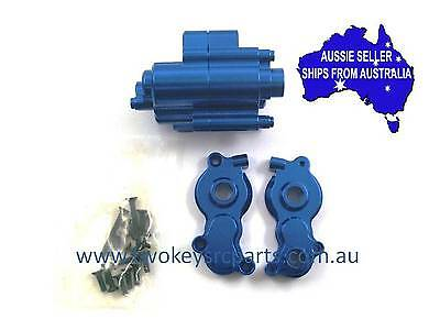 Alloy Transmission Cases-1 set for Axial Yeti 1:10 RC Truck.- Blue