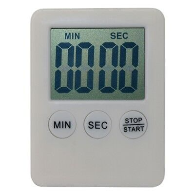 MMG - White Magnetic LCD Digital Kitchen Timer Count Up Down Egg Cooking Alarm