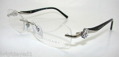 Authentic BVLGARI Le Gemme Silver Eyeglass Rx Frame BV 2123K - 394 *NEW*  53mm