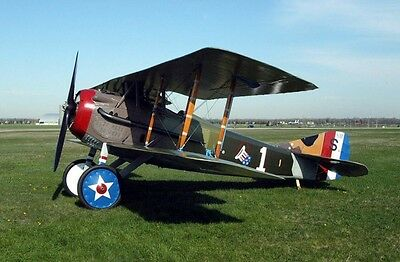 Spad S-XIII French Biplane S-13 Fighter Airplane Kiln Dry Wood Model Large New