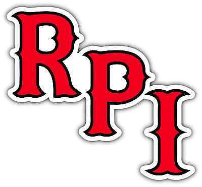 "RPI Engineers University College NCAA Car Bumper Vinyl Sticker Decal 5""X4"""