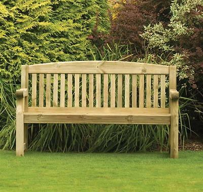 Athol 5ft (Foot) Heavy Duty Wooden Garden Bench
