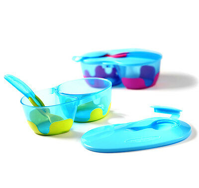 FEEDING BOWL Akuku baby feeding sucion bowl with spoon lid NO BISFENOL A A0255