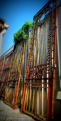 MONUMENTAL 19THc FRENCH WROUGHT IRON MANSION GATES
