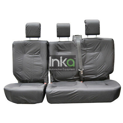 Land Rover Discovery 3 Rear Inka Fully Tailored Waterproof Seat Cover Grey