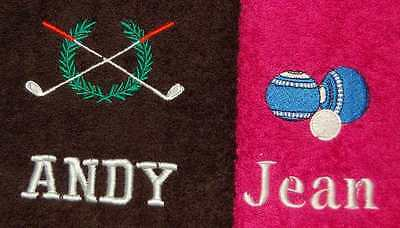 Personalised EmbroidereLawn Bowls or golf Luxury Sports Towel Any Name & Logo