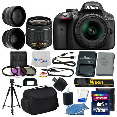 Nikon D3300 Digital SLR Camera 3 lens 18-55mm VR +16GB +More Great Value Kit!