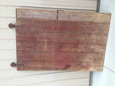"BARN DOOR FARM DOOR 79""H w/Original Hardware-Vintage Antique WOOD BARN DOOR"