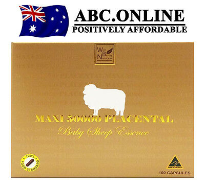 MAXI 50000 Placental Baby Sheep Well Being Placenta 50000mg Halal Australia