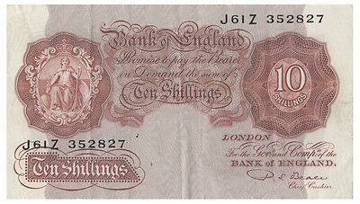 Great Britain 1949 Beale Ten Shillings Note VF