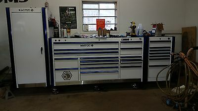 Matco 6 series  3 Bay Tool Box with locker, extra side cabinet & tools
