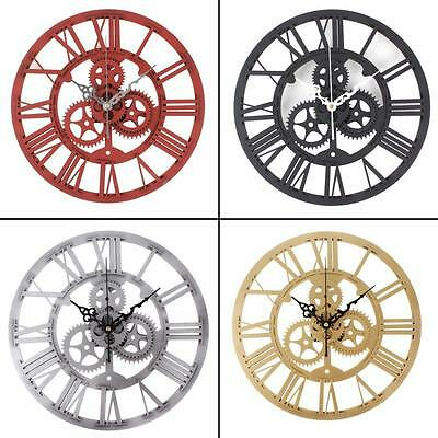 Reloj De Pared Retro Gear Moderno Art Creativa Hogar Decoración DIY Wall Clock