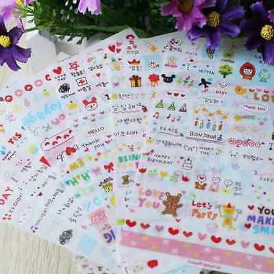 Cute 6 Sheets PVC Sticker For DIY Scrapbooking Diary Phone Sticker Products