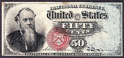 US 50c Stanton Fractional Currency 4th Issue FR 1376 VF-XF -006
