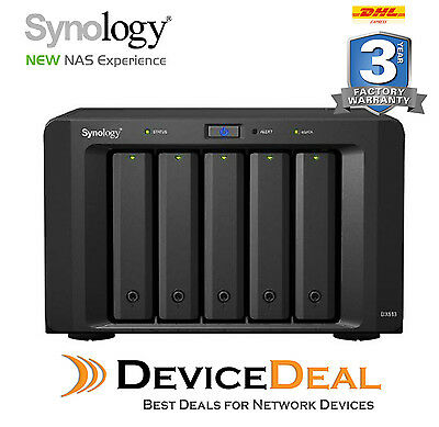 """Synology Expansion Unit DX513 5-Bay 3.5"""" Diskless NAS Scalable Compatible Models"""