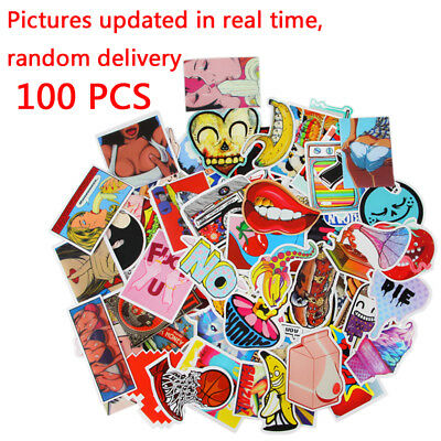 100x Computer Cellphone Guitar Travel Case Stickers pack decal sticker Random