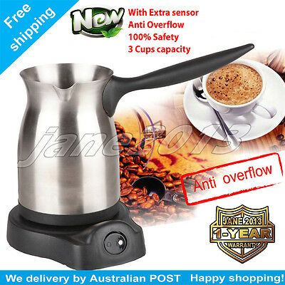 4 Cups Electric Turkish Coffee Maker with Anti overflow With Auto Cut-off Switch