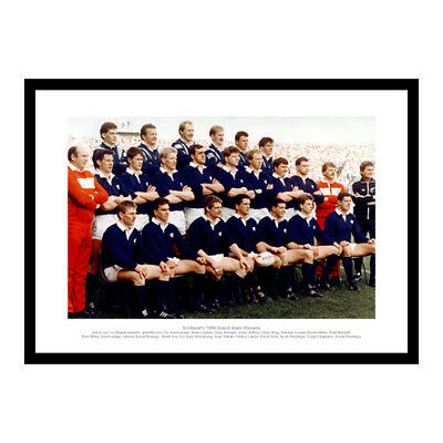 Scotland Rugby Team 1990 Five Nations Grand Slam Photo Memorabilia (915)