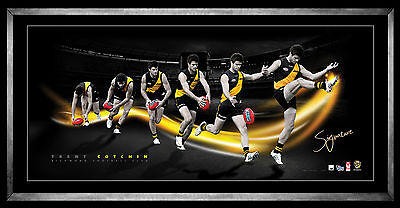 Trent Cotchin Time Lapse Richmond Signed Framed Limited Edition Lithograph Print