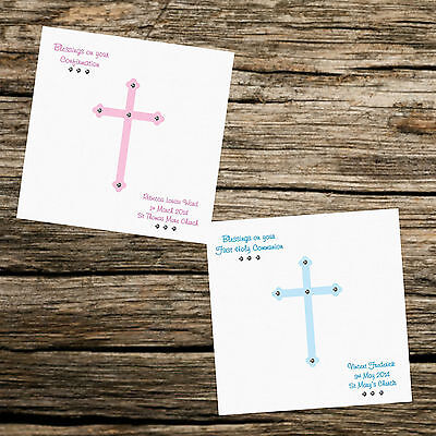 Personalised Card Christening - Naming Day - First Holy Communion- Confirmation