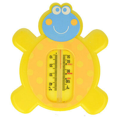 BATH THERMOMETER Akuku A0270 Baby Safety Floating Turtle Thermomether Toy YELLOW