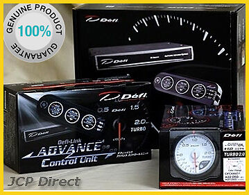 DEFI ADVANCE CR Turbo Boost Gauge 200kPa White Dial 60mm + Control Unit Set
