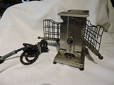 Vintage Torrid Push Button Toaster With Unique Swingout Bread Holders