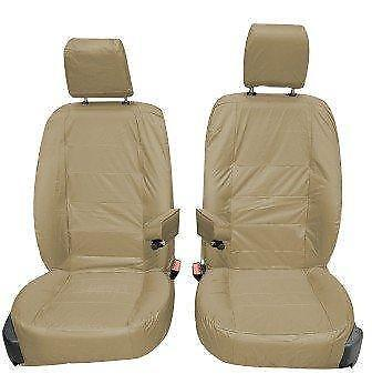 Land Rover Discovery 4 Front Inka Tailored Waterproof Seat Covers Beige 09-16