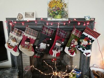Luxury 3D Christmas Stockings Personalised With Embroidered Name Free -22 Styles