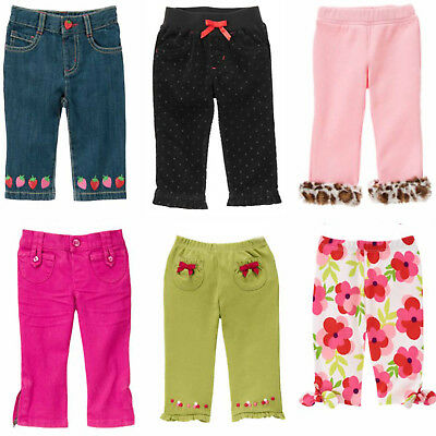 Gymboree Baby Girl Bottoms-Pants, Jeans, Jeggings- 3 6 12  2T 3T NWT You Pick!