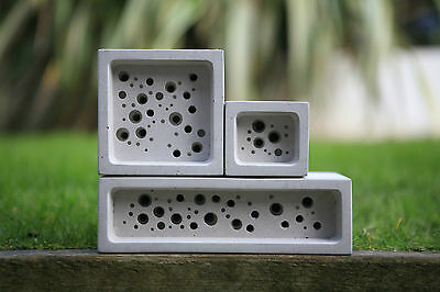 Bee Brick Nester Hotel Solitary Bee Hive Beehive Nest Choice Of Three Sizes
