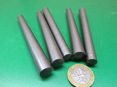 "Steel Taper Pins No. 8 .492 Large End x .398 Small End x 4 1/2"" Long, 5 Pcs"