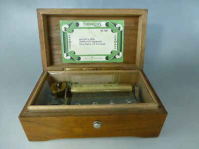 "1940s ""THORENS"" PRE REUGE Swiss Music Box  50 Key Play 3 Songs ( WATCH VIDEO )"