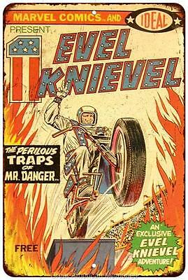 Evel Knievel Commic Book Vintage Look Reproduction 8x12 Metal Sign 8122011