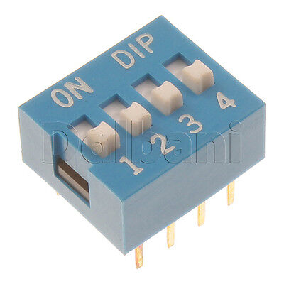 10pcs @$1 13-19-0010 8 Pin 4 Position Blue DIP Switch 2.54mm