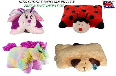Kids Childrens Soft Toy Cuddly Pillow Cushion Animal Pet Bed Unicorn Boys Girls