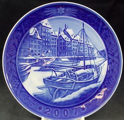 Royal Copenhagen Annual Christmas Plate 2007 A+ WITH CERTIFICATE no box