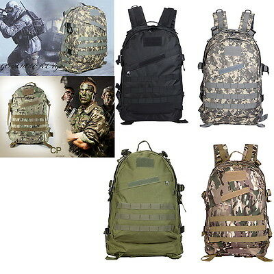 50L Molle Military Tactical Rucksacks Backpack Exploring Outdoor Hiking Camping