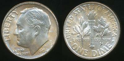 United States, 1951-D Dime, Roosevelt (Silver) - Uncirculated